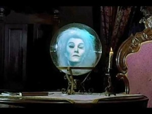 The lady in the crystal ball -- Disney's Haunted Mansion