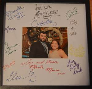 Our autographed picture frame